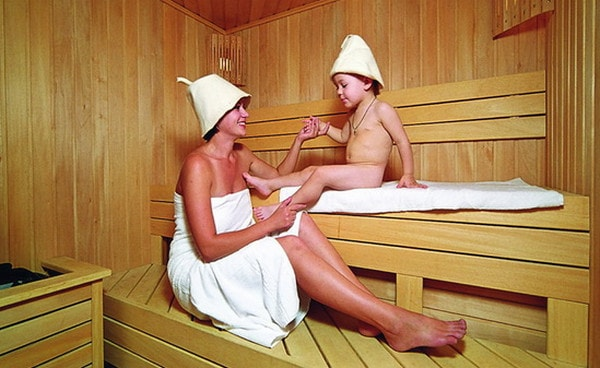 Баня отлично очищает кожу