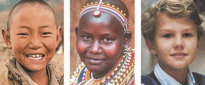 монголоидная, экваториальная (негроидная) и европеоидная расы