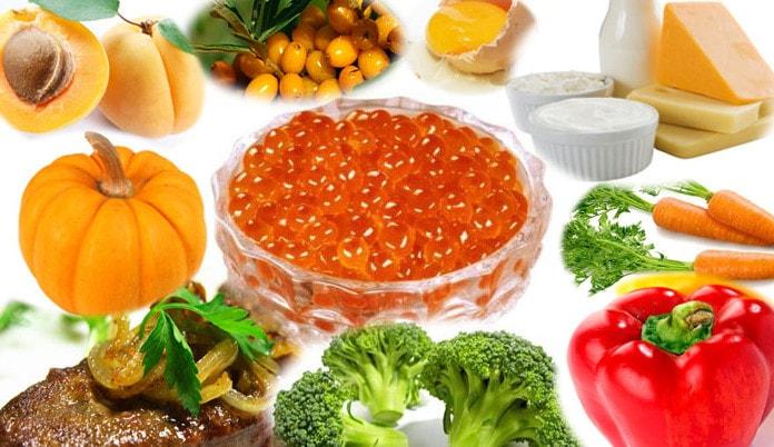 Источники витаминов группы A